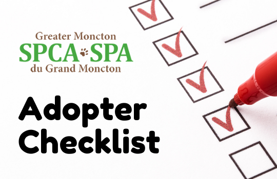 Adopter Checklist with GMSPCA logo